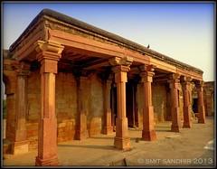Pillars inside Sultan Ghari Tomb (Smit Sandhir) Tags: century ruins delhi tomb dome sultan domes dynasty vasant slave earliest thirteenth mihrab mahmud sultanate nasiruddin kunj iltutmish firoz tughlak ruknuddin sultanghari