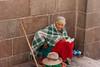 Peruvian Woman (callmeflea) Tags: street red woman peru canon candid homeless streetphotography streetportrait elderly unknown aged wisdom streetcandids canonef2035mmf3545usm canon400d