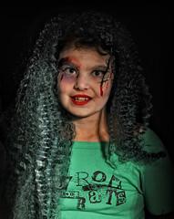 Morticia? (DeeMac) Tags: halloween 35mm trickortreat zombie sb600 longhair wig morticiaaddams d700