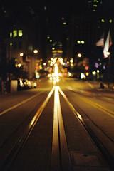 The Middle (a l e x . k) Tags: street film night san francisco pentax bokeh lx fa43mmf19