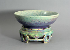 Ruskin Pottery bowl and stand (robmcrorie) Tags: black west ceramic design stand high birmingham crafts albert country arts bowl william collection edward pot glaze taylor vase pottery wade souffle effect ruskin midlands fired oldbury flambe smethwick ferneyhough howson tocky ruskinpottery williamhowsontaylor