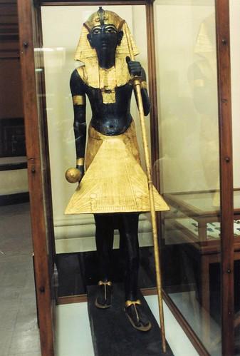 Egipto. El Cairo. Museo, tesoro de Tutankamón