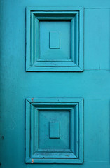Blue door (Samantha Evans of Samantha Evans Photography) Tags: door blue white black architecture canon paint pattern panel florida architecturaldetail fl cracks recess rectangle staugustine repeating recessed repeatingpattern staugustinefl tamron1750 canon60d
