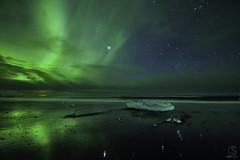 Aurora Borealis, Reflection, Orion - Jökulsarlon Beach, Iceland (TheAstroShake) Tags: