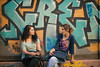 Gossip (Мaistora) Tags: street city ladies girls summer portrait people urban color colour art metal shop wall turkey walking relax graffiti evening alley women chat colorful day sitting afternoon grafitti faces candid sony talk istanbul front clear graffitti roller casual leisure nik conversation easy colourful relaxed tunel chill beyoglu corrugated gossip topaz lightroom chillout sokak passingby nex leisurely maistora 5r 1650mm sahkulu yahoo:yourpictures=weather selp1650