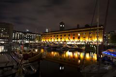 St Katharine Docks at dusk (louise_may) Tags: london st night docks dusk katharine