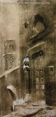 Eugenio Prati Chiesa 1894 carboncino su carta