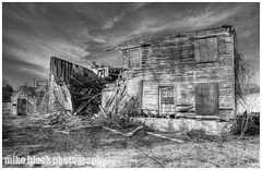 Camp Evans decay NJ shore (Mike Black photography) Tags: county new wood blue camp sky sun white house 3 black color building rot tower abandoned mike broken wall architecture canon entropy lens is evans december doors mark decay military magic sandy iii nj structures age shore hour jersey monmouth getty l 5d