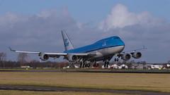 "Boeing 747-406 - PH-BFO ""City of Orlando"" - KLM Royal Dutch Airlines (swijsman) Tags: amsterdam airplane airport pentax aviation airline klm schiphol airliner sigma100300 royaldutchairlines polderbaan phbfo cityoforlando boeing747406 pentaxk5iis k5iis"