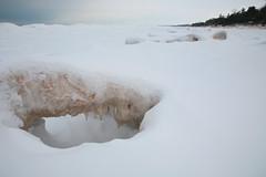 Ice Cave (peterkelly) Tags: winter snow ontario canada ice beach sand dune shoreline greatlakes northamerica lakehuron grandbend
