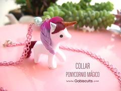 Ponycornios Gabiscuits (Gabiscuits) Tags: cute mexico necklace little handmade magic jewelry lolita pony clay kawaii sculpey etsy collar wonderland unicorn joyeria polymer accesorios unicornio gabiscuits
