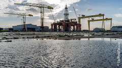 Belfast Docks, Northern Ireland (Paul Woods Music & Event Photography) Tags: world travel ireland tourism belfast rig oil ni northern titanic shipping sights wolff shipbuilding dockland harlandwolff harland titanicquarter yap1 blackforddolphin