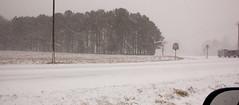 Feb 12 2014 Snow storm (5) (tommaync) Tags: road trees snow nature nc nikon highway snowstorm northcarolina february snowfall flakes 2014 chathamcounty d40
