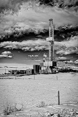 Drillin' (the gf) Tags: foothills canada rockies well alberta rig oil longview drilling