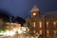 San Miguel County Courthouse (Curtis Gregory Perry) Tags: county longexposure tower clock night rockies nikon colorado telluride courthouse sanmiguel d800e