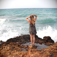 . (Nick Today) Tags: ocean travel sea summer beach girl beautiful beauty hair mediterranean kreta norwegian greece crete
