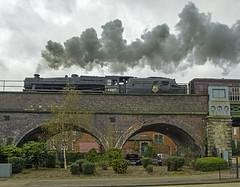44871 crossing Abbey Foregate (orrellsphoto) Tags: train steam shrewsbury mainline black5