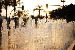 Almeria (Karol Majewski) Tags: sunset water fountain espana column andalusia