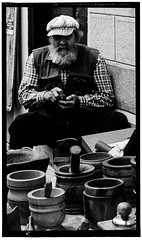 Woodcraft market (gilderstern) Tags: street portrait people urban blackandwhite italy monochrome face noir fuji noiretblanc candid liguria award x passion et blanc santostefanoalmare streetpassionaward