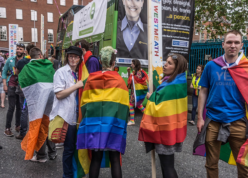 DUBLIN 2015 LGBTQ PRIDE FESTIVAL [PREPARING FOR THE PARADE] REF-106224