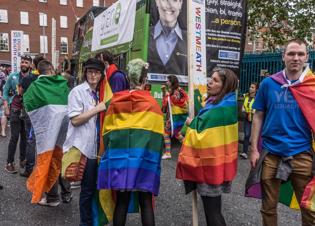 DUBLIN 2015 LGBTQ PRIDE FESTIVAL [PREPARING FOR THE PARADE] REF-106224