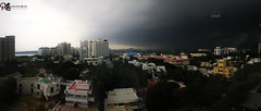 Panorama view from Sun tv office (Praveen Quak) Tags: panorama beach rain chennai moonsoon suntv praveenquak praveenquakphotography