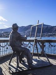 Pittore (Mauro_Amoroso) Tags: nature iron paint statua lakescapes orta lagodorta pittore paintman
