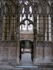 Exeter Cathedral (pefkosmad) Tags: building architecture worship cathedral interior gothic entrance stpaul chapel medieval holy doorway devon exeter middleages anglican exetercathedral placeofworship hallowedground churchofengland chapelofstpaultheapostle