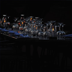 cheers...in a minute! (me*voilà) Tags: namibia lodge dinner glass onblack reflections diagonal candle festive