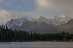 Mountains On Top Of Mountains (jim peterson2012) Tags: canadianrockies herbertlake banffnationalpark icefieldparkway kickinghorsepass