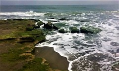 Coquina Outcrop (rebekah.c.james) Tags: uncw ecology bio366 uncweteal sp2017 image3 waves beach fort coquina ocean northcarolina color tidepools foam