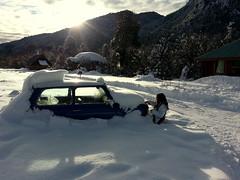 Descubriendo (julyyale) Tags: nieve snow car auto nevado snowing canont5i canon atardecer