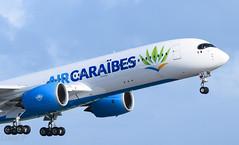 Alpha Victor de bon matin (◄ Lino Spotting ►) Tags: a350 air caraibes tx fwi french west guadeloupe antilles fhhav a359 a350900 737 777 747 boeing airbus tffr ptp