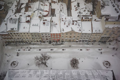 Winter in Lviv Old Town (tarmo888) Tags: sel16f28 sonyalpha sonyα nex7 geotaggedphoto geosetter sooc photoimage фотоfoto year2016 aerialview special beenwaiting snow lumi снег ukraine україна ukrayina украи́на украина lviv lwów lvov lemberg львів львов leopolis lwow unesco medieval awesome pov