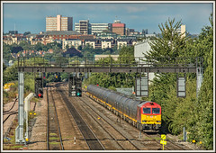 Tug in Boots (david.hayes77) Tags: dbs dbschenker class60 tug 60001 6m00 bootsbridge humberroadsouth ng9 city skyline nottingham 2015 freight oil summer