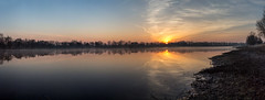 Sonnenaufgang im März 2014 (diwan) Tags: germany deutschland sachsenanhalt saxonyanhalt magdeburg stadt city place see lake salbkersee sonne sun sonnenaufgang sunrise wolken clouds himmel sky silhouette march morgen morning farben colours reflection inthemorning roundabout panoramix panorama stitch ptgui spiegelreflexkamera fotogruppe fotogruppemagdeburg canoneos650d canon eos 2014 geotagged geo:lon=11663597 geo:lat=52094807