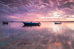 Dawn at Tulka (Images by Ann Clarke) Tags: jan2016 boats calm clouds eyrepeninsula reflections southaustralia tulka