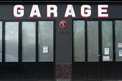 Garage (•Nicolas•) Tags: garage nicolasthomas paris france window fenetre door porte sign panneau