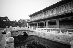 The Forbidden City - Beijing (virtualwayfarer) Tags: beijing china capital unesco unescoworldheritage worldheritage worldheritagesite asia asian street streetphotography imperial empire imperialpalace palace mingdynasty qingdynasty 紫禁城 chinese architecture chinesearchitecture travel tourism alexberger travelphotography bridge bridges reflection reflections canon canon6d spring march blackandwhite blackandwhitephotography
