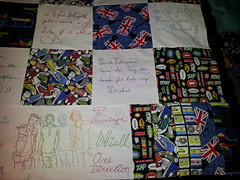 1D_Quilt_h (aprilsongstressdesigns) Tags: handwriting lyrics quilt embroidery fabric 1d redwork onedirection harrystyles louistomlinson zaynmalik liampayne niallhoran aprilsongstress