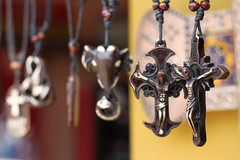 Crucifix for Sale (stupiduglyforeigner) Tags: travel detail mexico necklace guanajuato valenciana