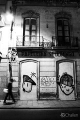 Con nocturnidad (ChALLeN12) Tags: bw white black art byn blanco night graffiti andaluca spain negro nocturna almeria brote bmz stook
