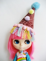 Birthday Circus hat for Blythe