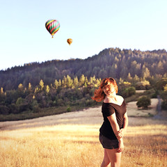 A World of Her Own (Marissa McPeak) Tags: travel mountains green girl forest balloons fun fly artist wind creative dream meadow adventure explore imagine imagination dreamy create wish creator hotairballoons whimsical hopeful