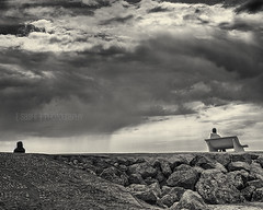 Weather Observations (s a s h i) Tags: blackandwhite monochrome rain weather clouds spain sitges sashi alexarnaoudov