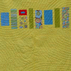 Back Detail (Jayne Marie TN) Tags: orange yellow quilt bohemian patchworkquilt modernquilt