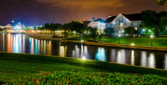 Serenity's Pathway (Christian Lambert Photography) Tags: world lake color beach club night lights orlando nikon friendship unitedstates time florida yacht sigma disney crescent resort shipwreck walt villas f28 1750mm d7000 dvcphoto92