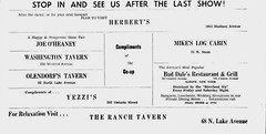 Bar ads Albany Student Press 1950's (albany group archive) Tags: albany ny bars 1950s oldalbany history old photos vintage photographs historic historical