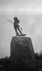 man of the minute (Jiffy Cat) Tags: statue self french daniel chester homemade concord processed minuteman pinholga