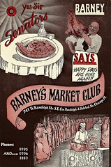Barney's Market Club (Cragin Spring) Tags: city urban chicago restaurant midwest postcard chitown forgotten barneys chicagoillinois chicagoil windycity forgottenchicago barneysmarketclub yessirsenators
